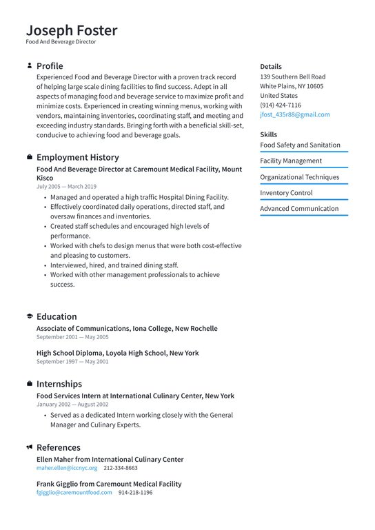 food and beverage director resume examples writing tips free fbi core competencies Resume Food And Beverage Director Resume