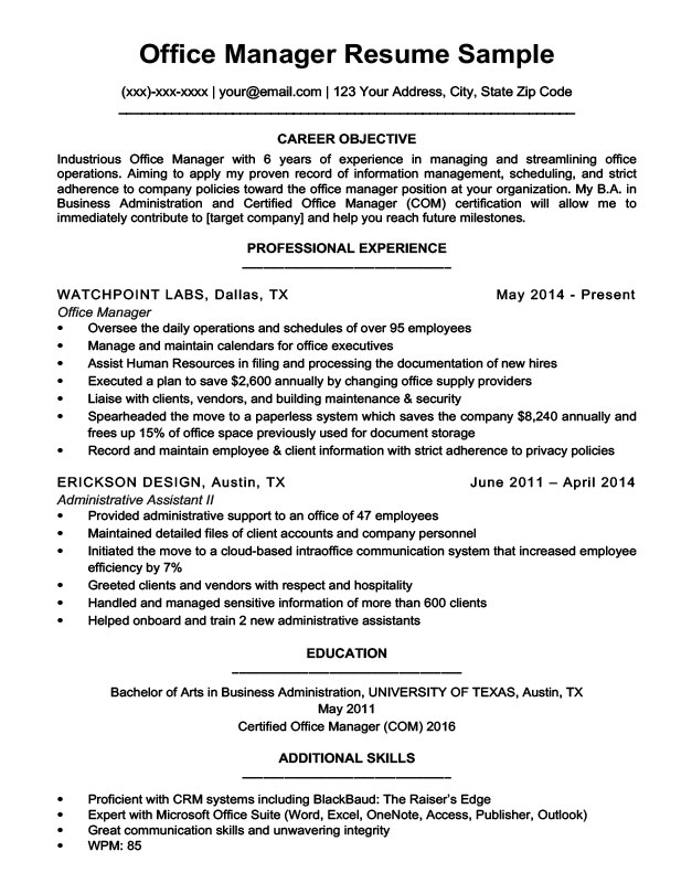 for office manager resume samples format objective on bootstrap electrical engineer Resume Objective On Resume For Office Manager