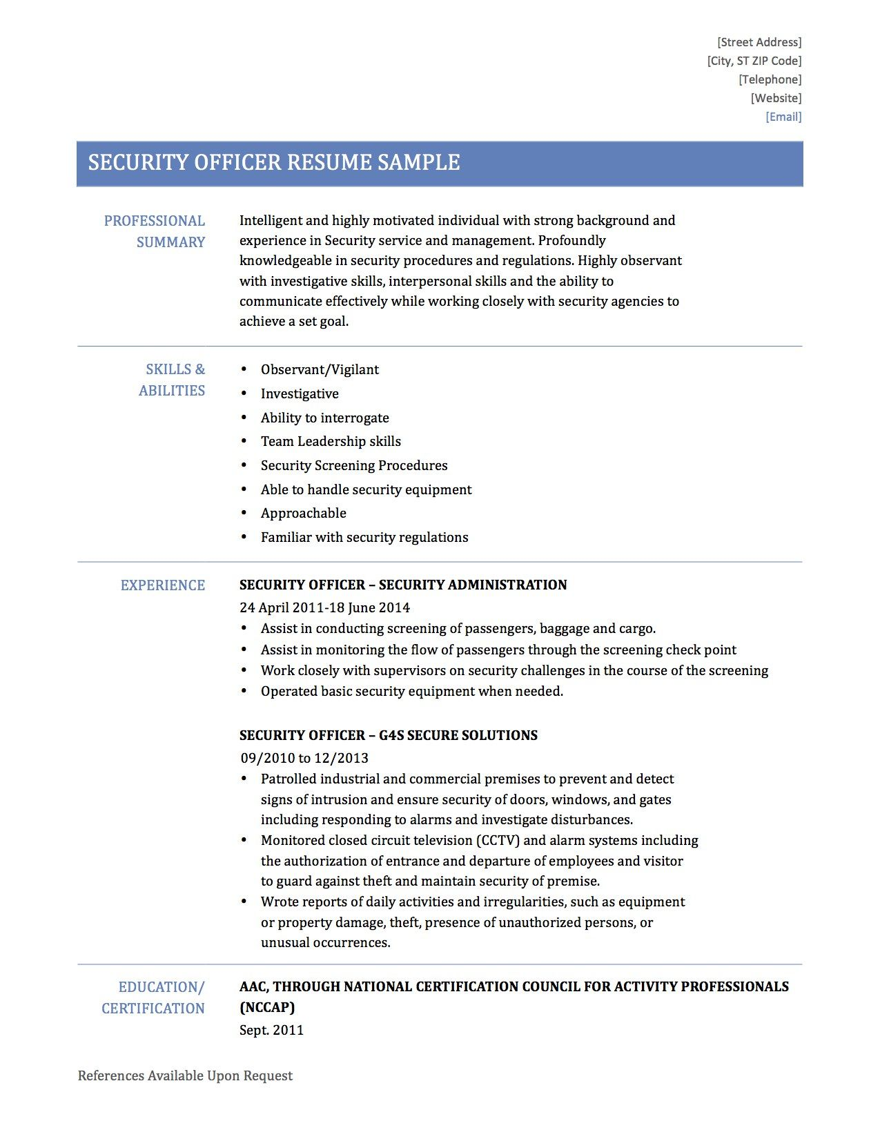 for resume personal qualities examples example attributes template manager security Resume Personal Attributes Examples For Resume