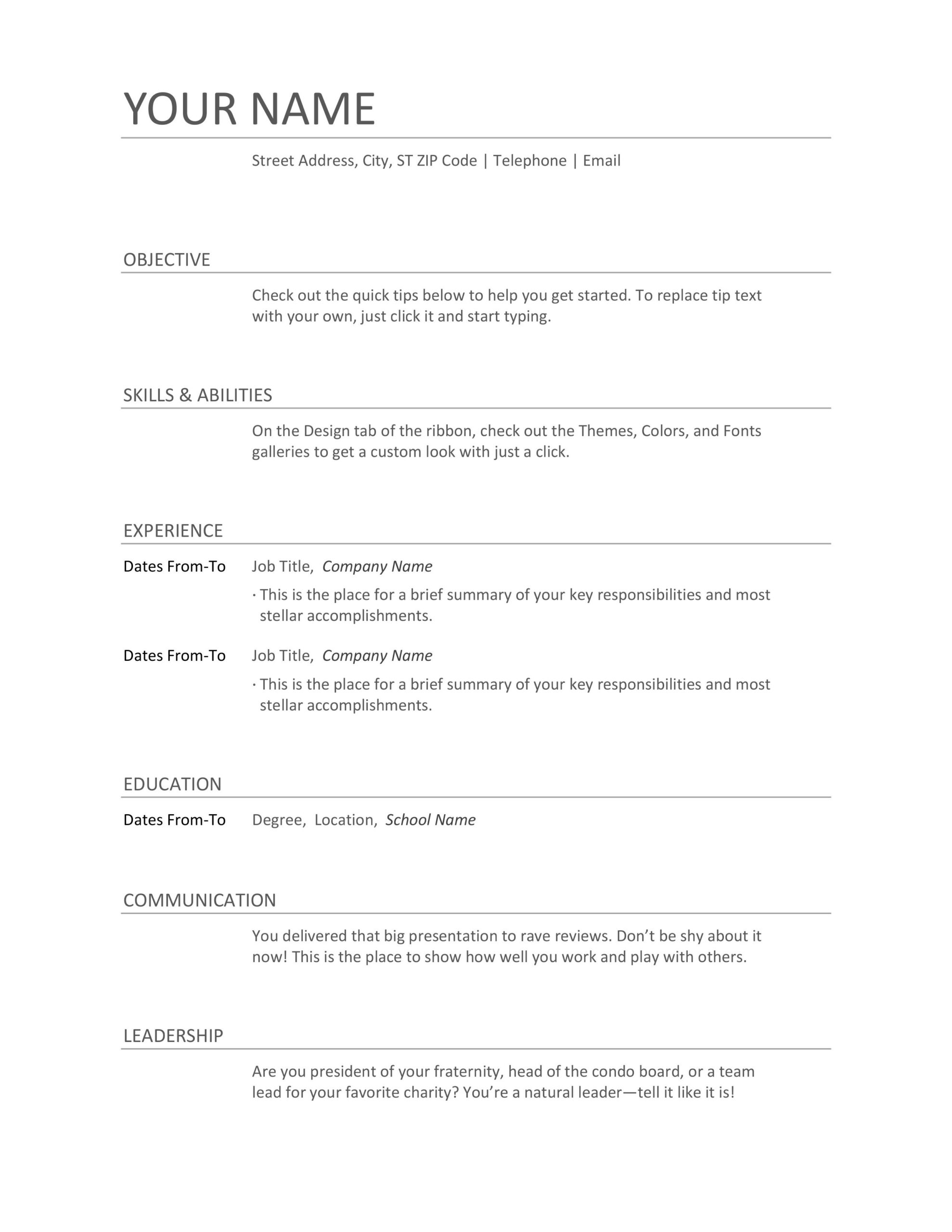 formats of resume examples and sample for freshers typing resumes job combination Resume Typing Resumes For A Job
