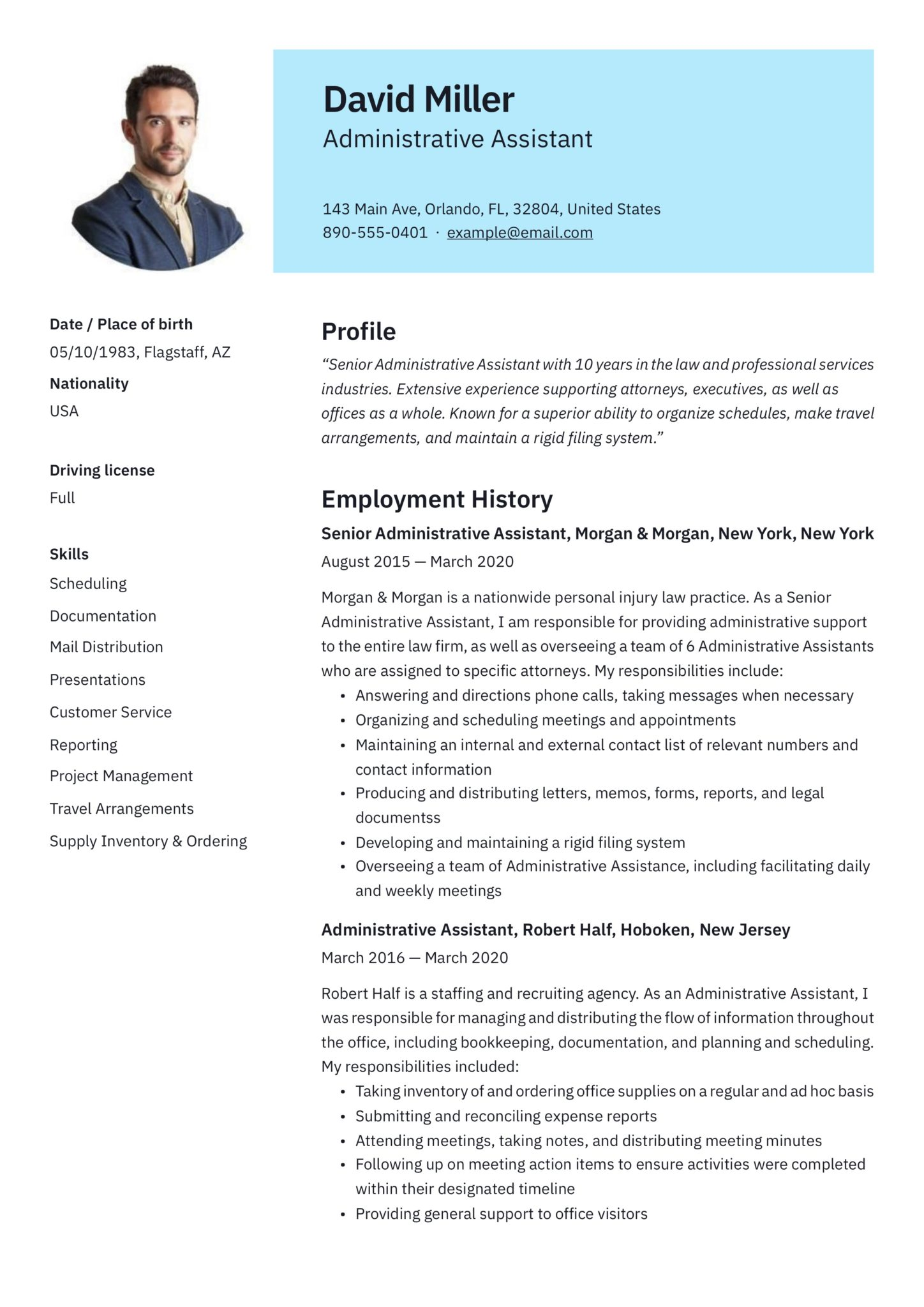 free administrative assistant resumes writing guide pdf resume templates scaled email Resume Free Administrative Assistant Resume Templates