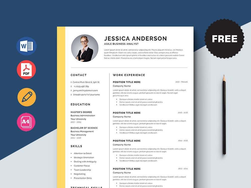 free agile business analyst resume template with elegant look healthcare project manager Resume Business Analyst Resume Template