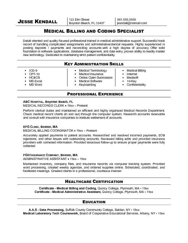 free billing coding resume sample medical and assistant coder help desk summary for Resume Medical Coder Resume Sample