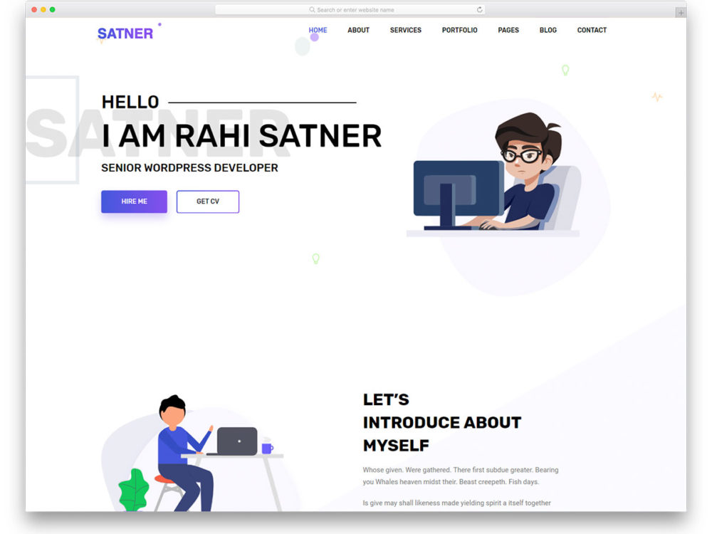 free bootstrap resume templates for effective job hunting interactive template satner Resume Interactive Resume Template