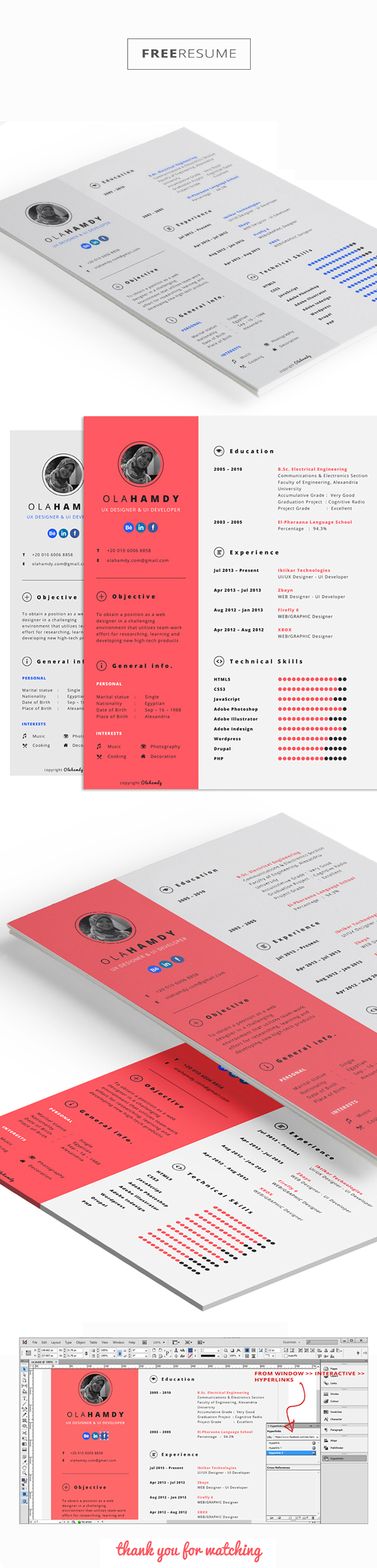 free clean interactive resume on behance template current samples contemporary microsoft Resume Interactive Resume Template