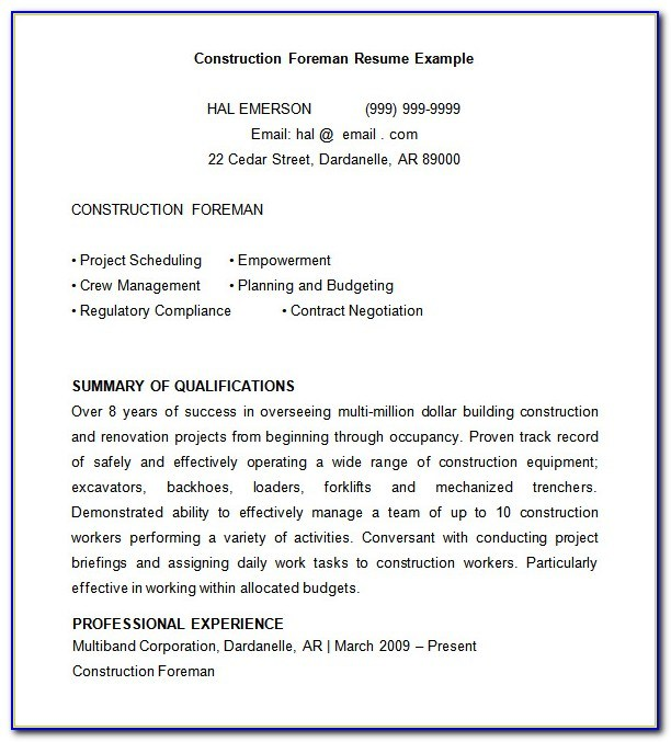 free construction superintendent resume templates vincegray2014 pdf does education or Resume Construction Superintendent Resume Pdf