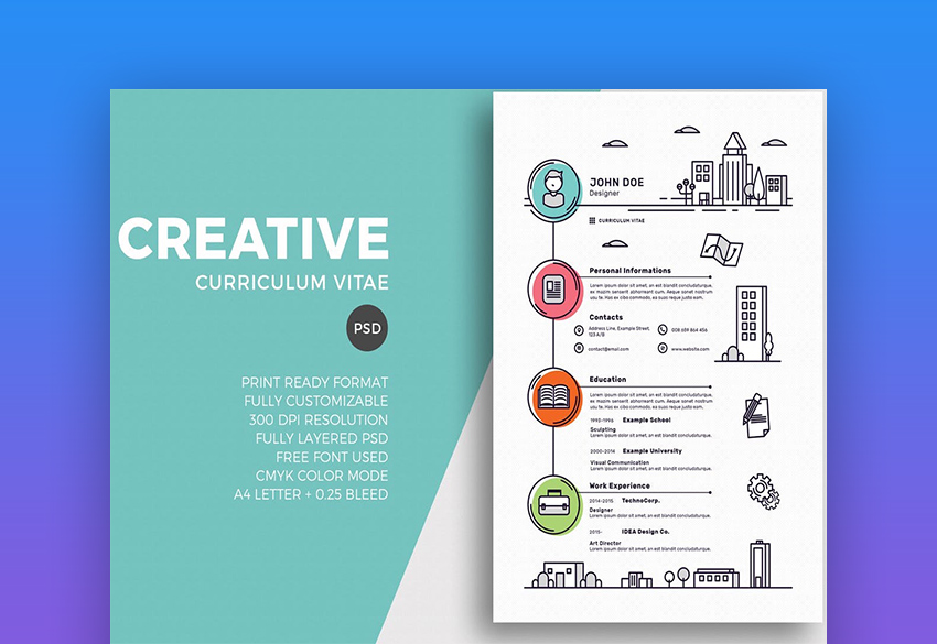 free creative resume templates word downloads for awesome creativeresumecvtemplate good Resume Awesome Resume Templates Free