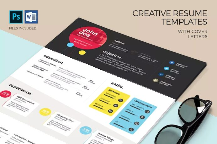 free creative resume templates word downloads for awesome en colorful template spacy Resume Awesome Resume Templates Free