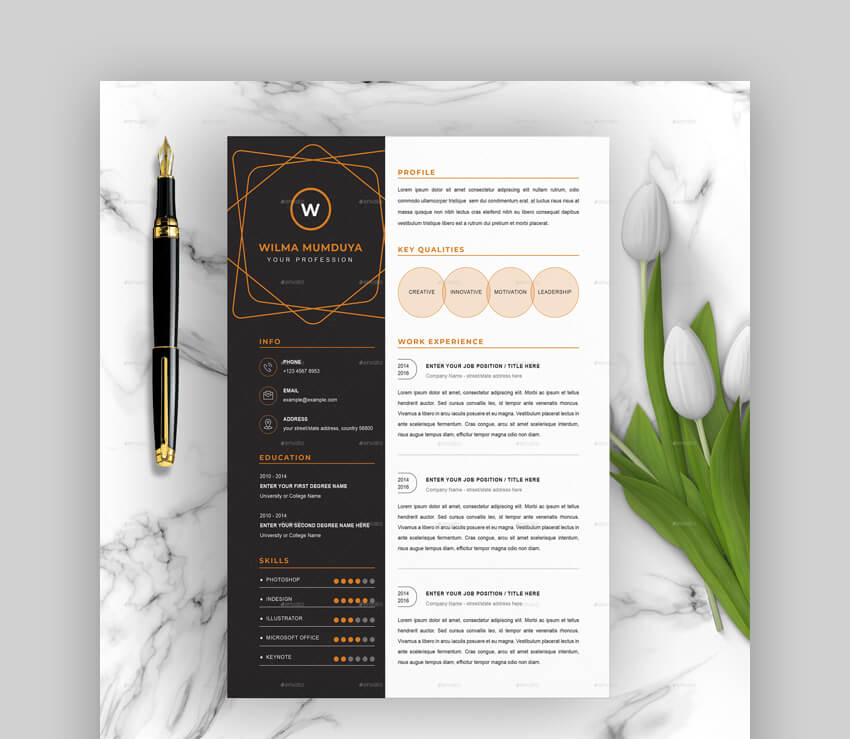 free creative resume templates word downloads for professional and template sample of Resume Professional And Creative Resume Templates