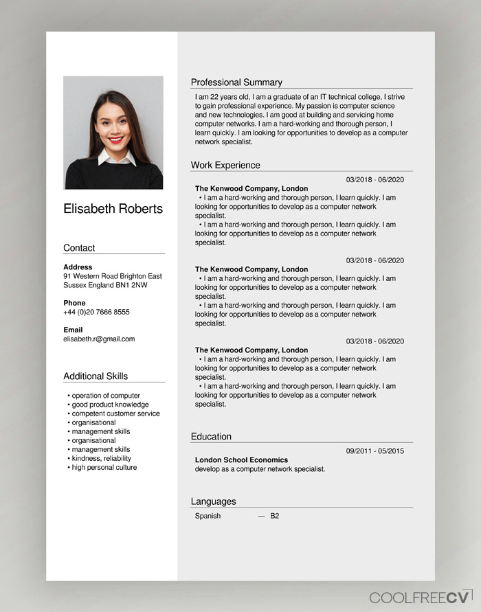 free cv creator maker resume builder pdf build your own for example self employed people Resume Build Your Own Resume Online For Free