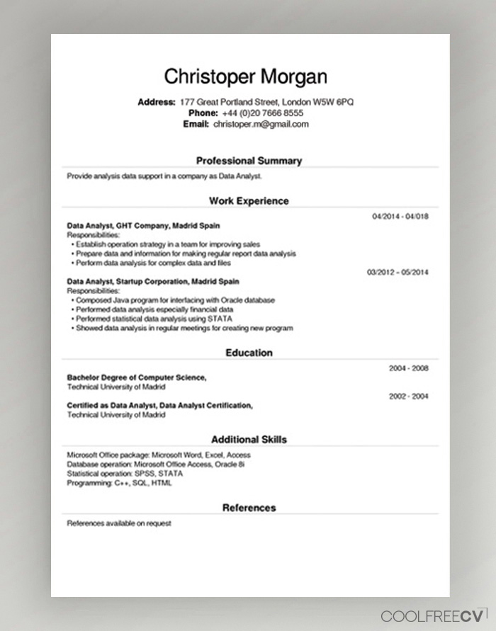 free cv creator maker resume builder pdf example title examples for any job applied Resume Free Resume Pdf Builder