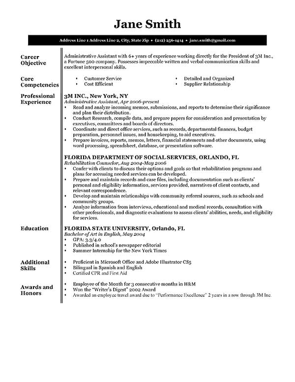 free executive resume templates in microsoft word format creativebooster management Resume Management Resume Templates Free