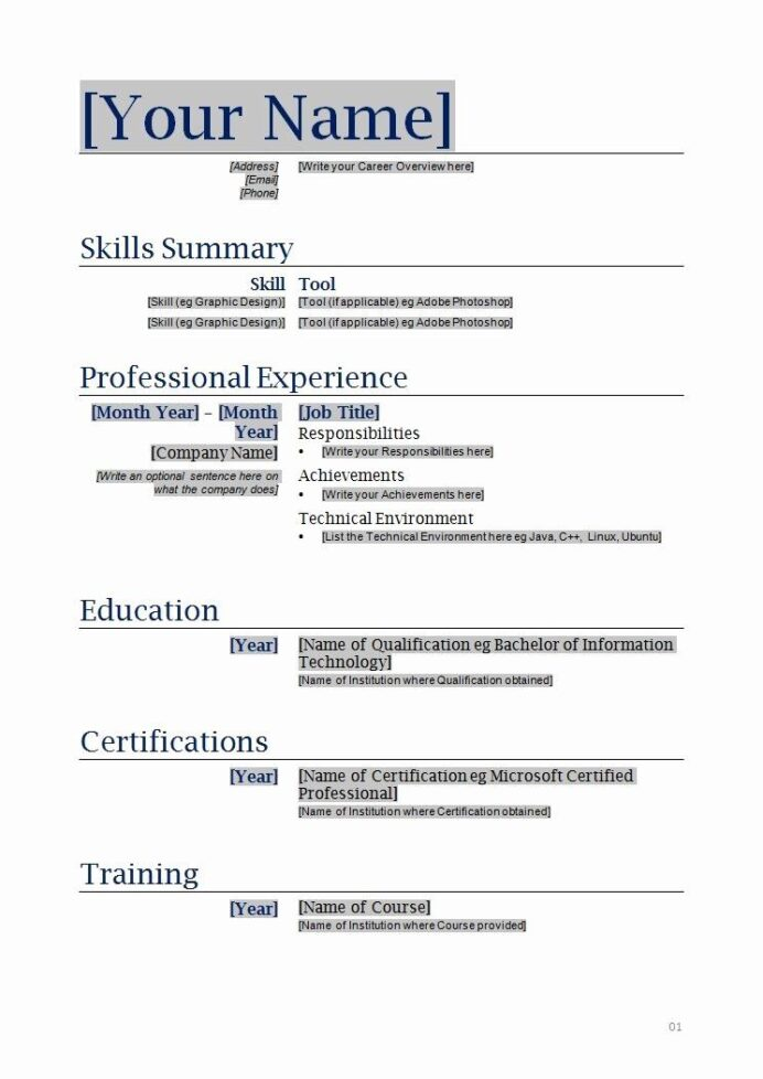 free functional resume template inspirational blanks resumes templates printable for Resume Functional Resume Examples 2020