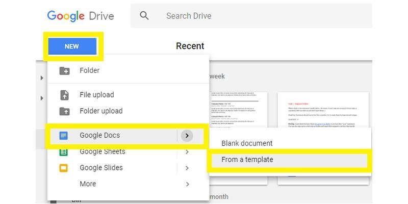 free google docs resume templates drive alternatives create with meaning civil foreman Resume Create Resume With Google Docs