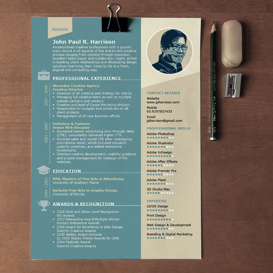 free indesign resume template designfreebies templates for adobe one address on good Resume Resume Templates For Adobe Indesign