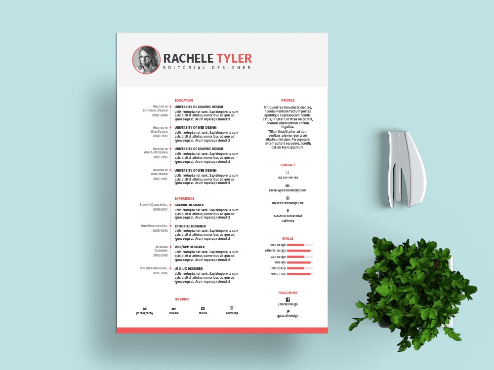 free indesign resume template stockindesign header college student job for different Resume Indesign Resume Template