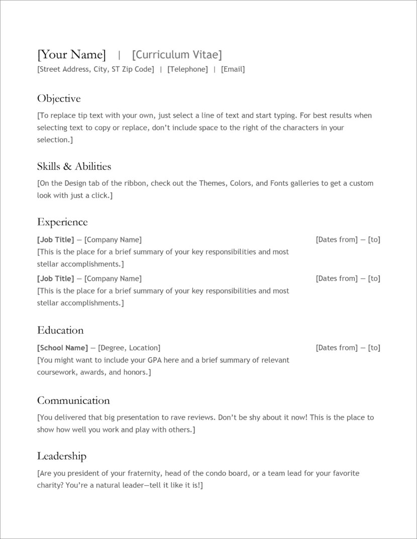 free modern resume cv templates minimalist simple clean design sheets to fill in Resume Resume Sheets To Fill In