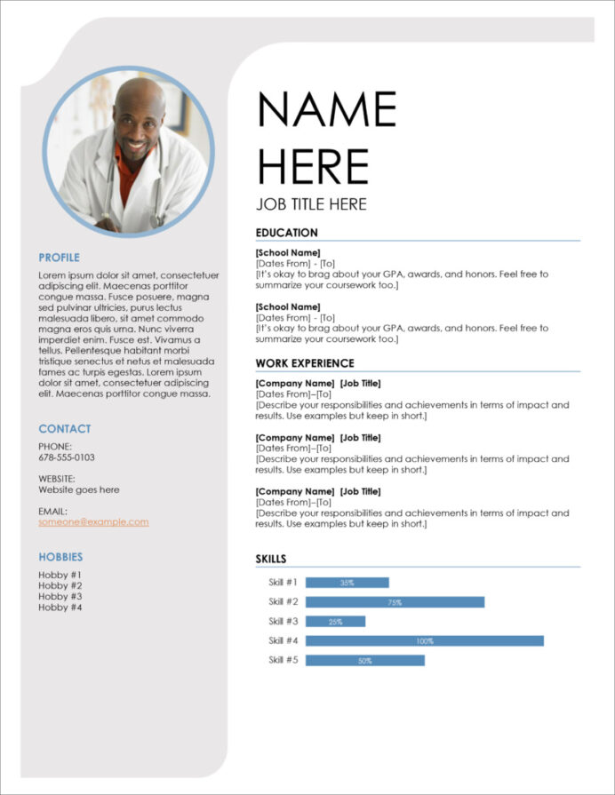 free modern resume cv templates minimalist simple clean design template google docs Resume Free Resume Template Google Docs Download