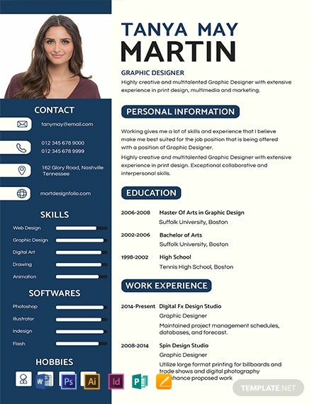 free professional resume cv template word indesign apple mac illustrator publisher Resume Professional Resume Template