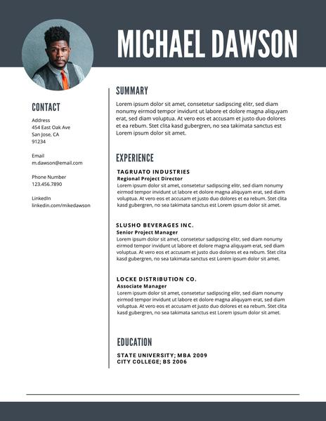 free professional resume templates downloadable lucidpress samples level federal template Resume Professional Resume Samples Free