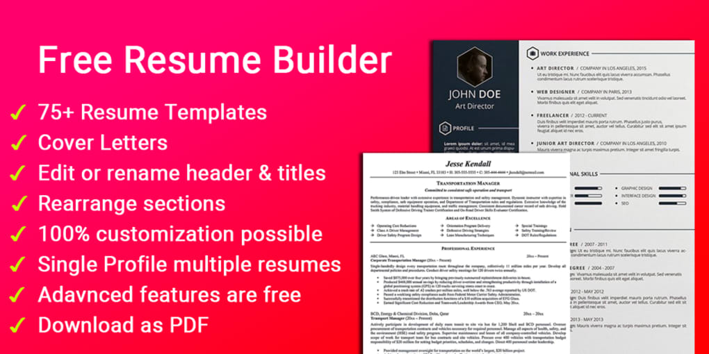 free resume builder cv maker templates pdf formats for android and business analyst Resume Free Resume Builder And Download