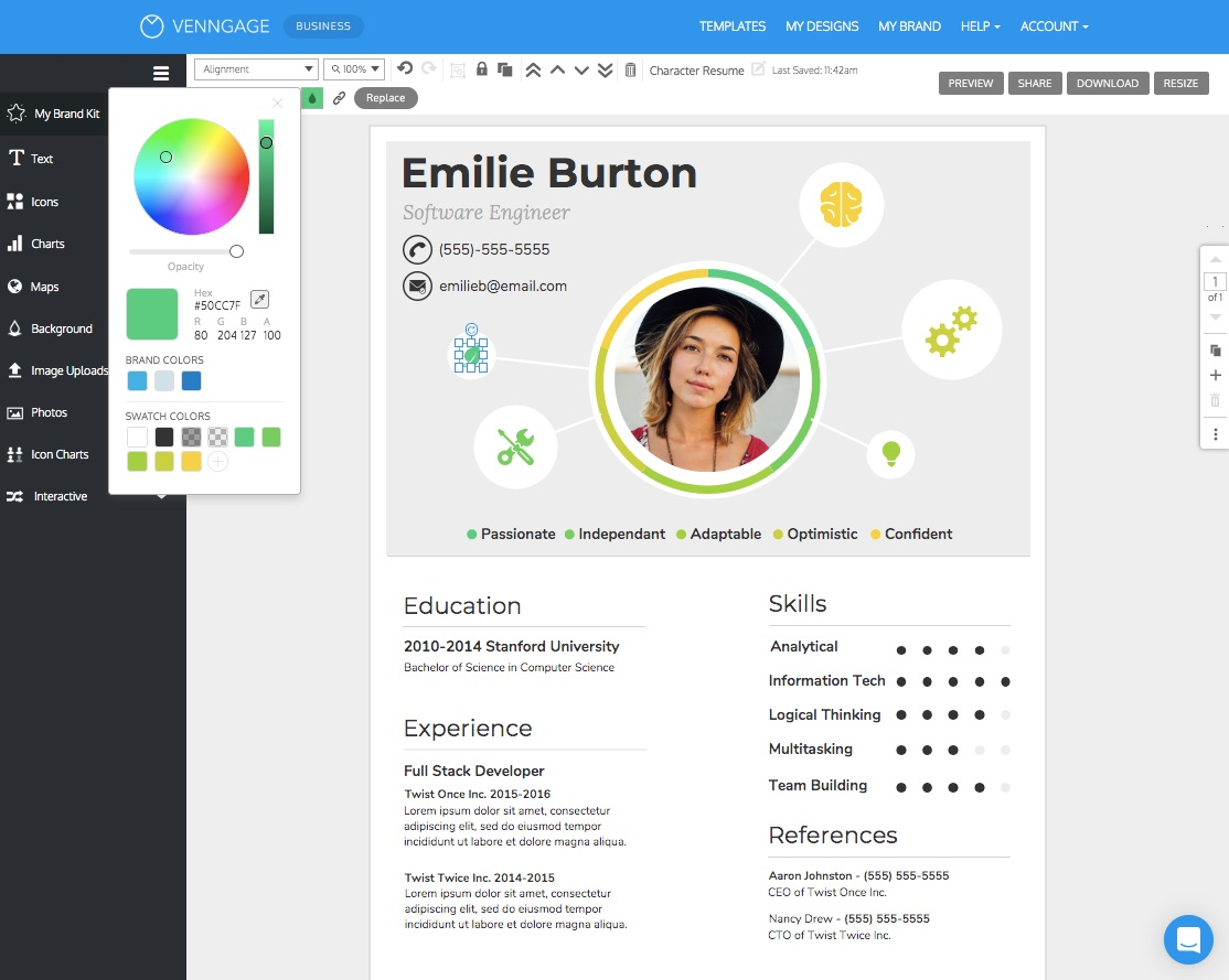 free resume cv maker get started in minutes build your for 1st year engineering student Resume Build Your Resume Online