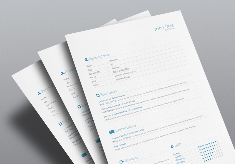 free resume indesign templates stockindesign template federal writers cost senior Resume Indesign Resume Template