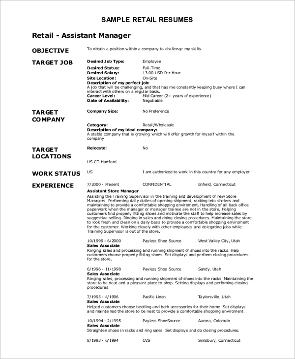 free resume objective samples in ms word pdf catchy statements retail example optometric Resume Catchy Resume Objective Statements