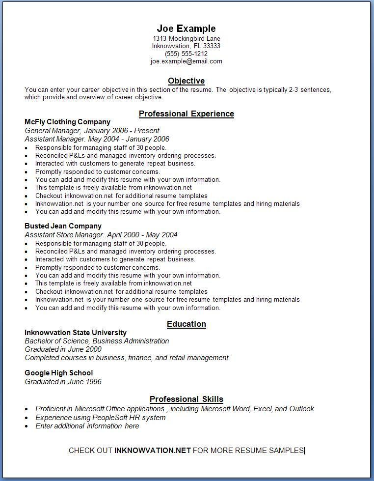 free resume samples sample resumes templates printable for job simple examples high Resume Sample Resume For Online Job