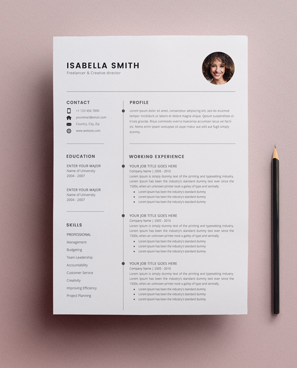 free resume template cv freebies graphic design junction 3page insurance domain truck Resume Resume Template 2020 Free