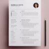 free resume template cv freebies graphic design junction completely templates 3page Resume Completely Free Resume Templates