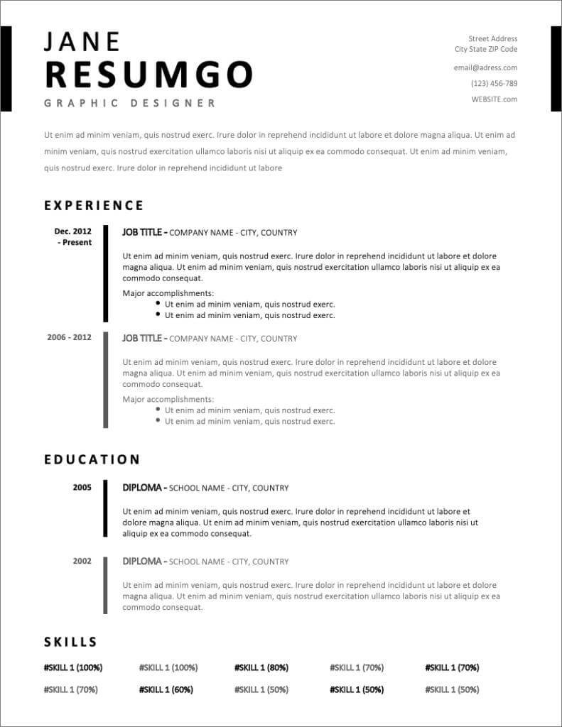 free resume templates for to now template pdf editable new bid manager sample preschool Resume Resume Template Pdf Editable