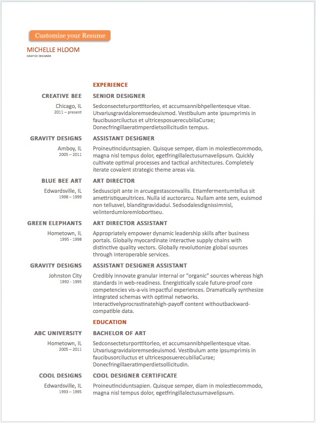 free resume word templates to impress your employer responsive muse widgets two column Resume Free Two Column Resume Template Word