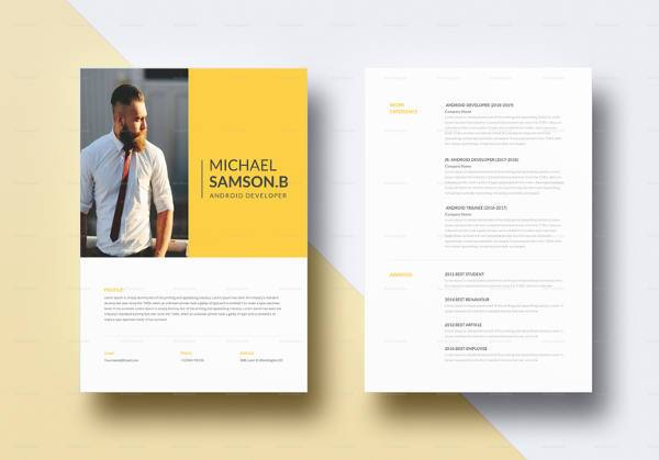 free sample android developer resume templates in pdf for creative template word summary Resume Free Resume Templates For Android