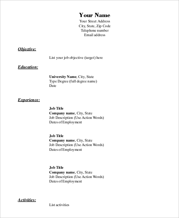 free sample blank resume templates in ms word pdf format student improv template trends Resume Resume Format Download Pdf