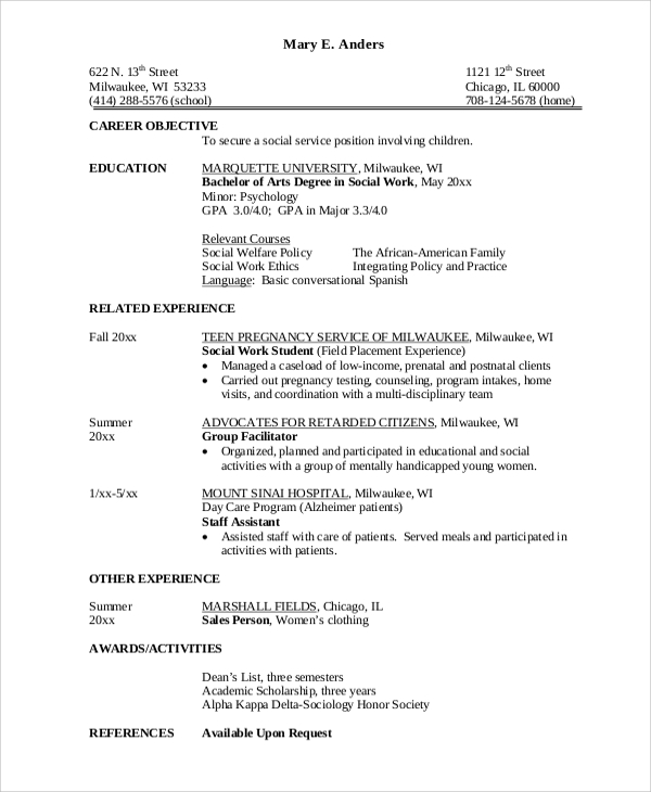 free sample career objective statement templates in ms word pdf of resume for fresh Resume Sample Of Resume Objective For Fresh Graduate