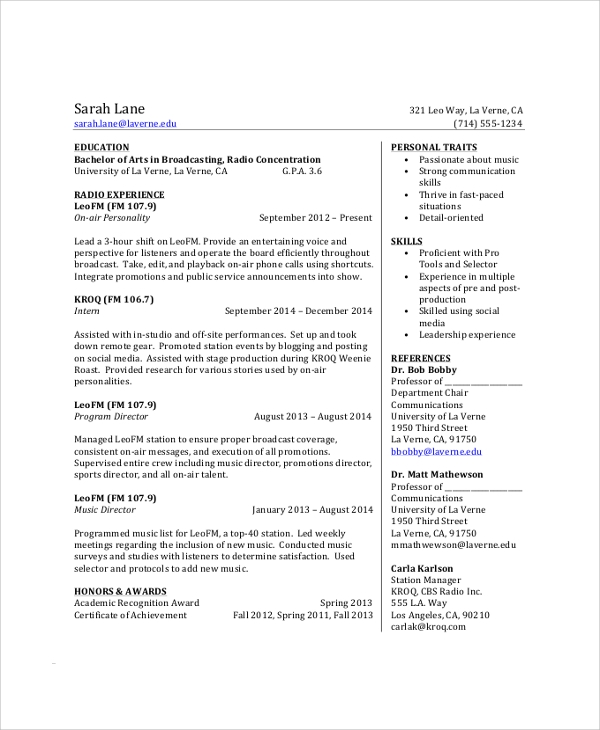 free sample college student resume templates in pdf ms word undergraduate example social Resume Undergraduate College Resume