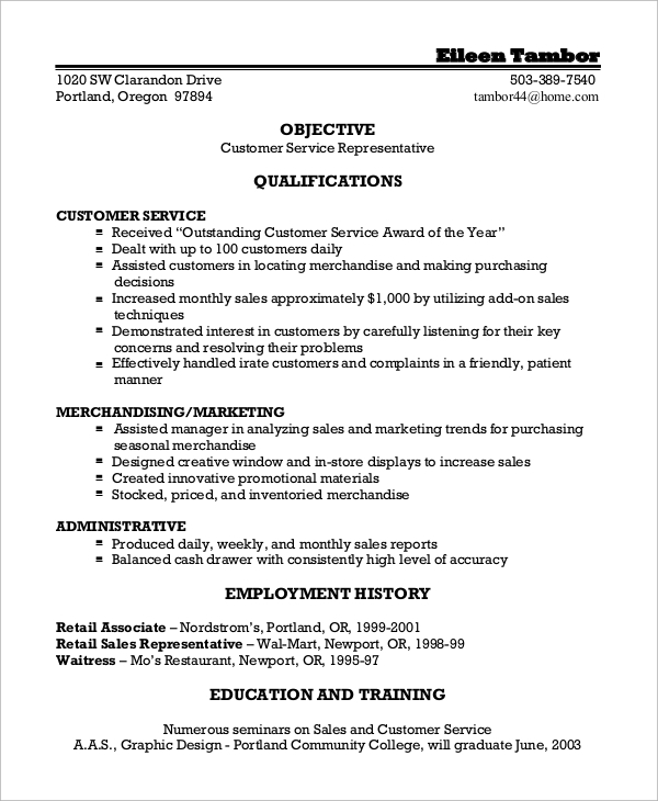 free sample customer service resume templates in ms word pdf for job template factory Resume Resume For A Customer Service Job