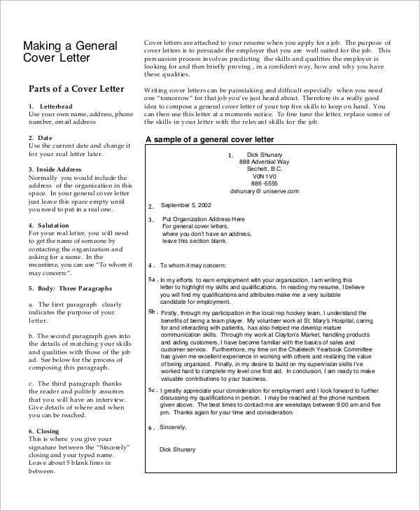free sample generic cover letter templates in pdf resume sheet example job for child care Resume Resume Cover Sheet Example