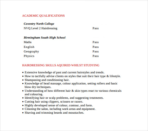 free sample hair stylist resume templates in pdf ms word style medical externship lateral Resume Free Hair Stylist Resume Templates Download