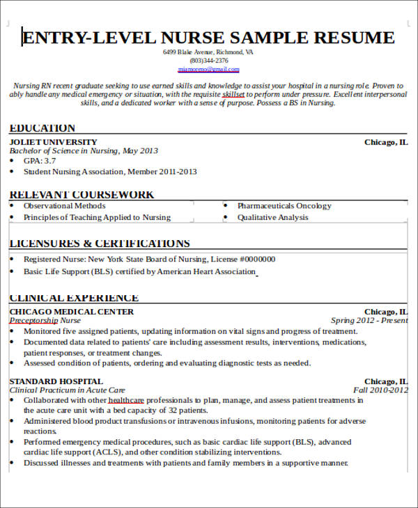 free sample new nurse resume templates in ms word pdf entry level rn no experience Resume Entry Level Rn Resume