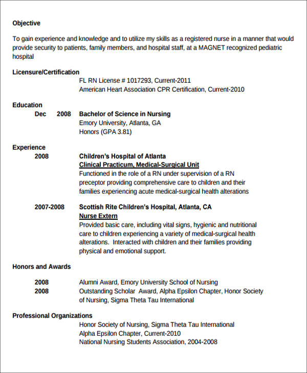 free sample new nurse resume templates in ms word pdf graduated with honors graduate Resume Graduated With Honors Resume