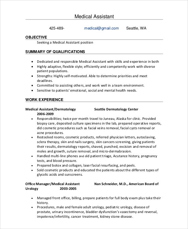free sample office assistant resume templates in ms word pdf medical skills cover Resume Medical Office Assistant Skills Resume