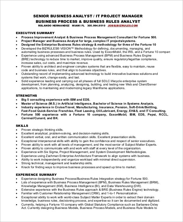 free sample project manager resume templates in pdf ms word senior program significado en Resume Senior Program Manager Resume