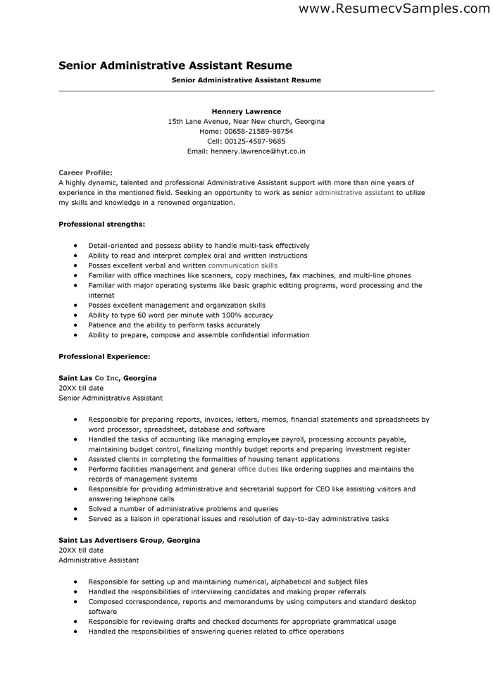 free sample resumes objective on resume for administrative assistant church office Resume Church Office Administrator Resume