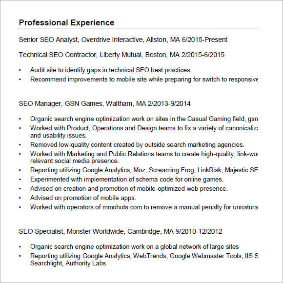 free seo resume templates in pdf search optimization gladstein pdf1 dispatcher summary Resume Resume Search Optimization