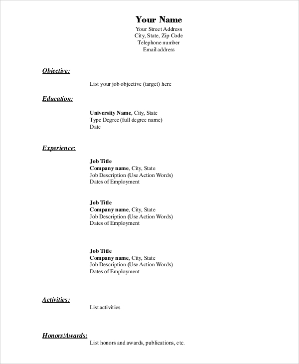 free simple resume format in ms word pdf for job bu template best font michel bussi sang Resume Simple Resume Format Pdf