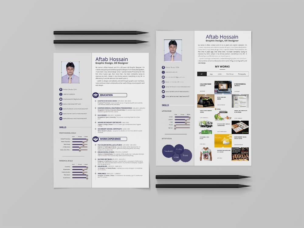 free simple resume template for personal use format employment junior project manager Resume 2 Page Resume Format