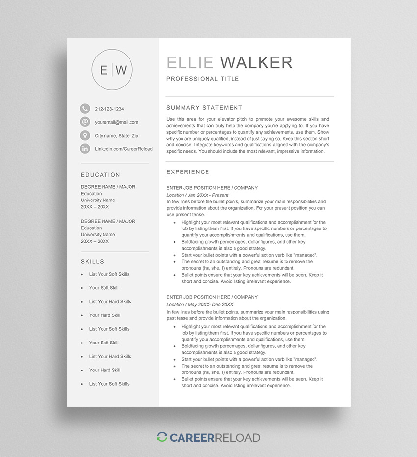 free word resume templates microsoft cv library unsubscribe template ellie listing Resume Resume Library Unsubscribe