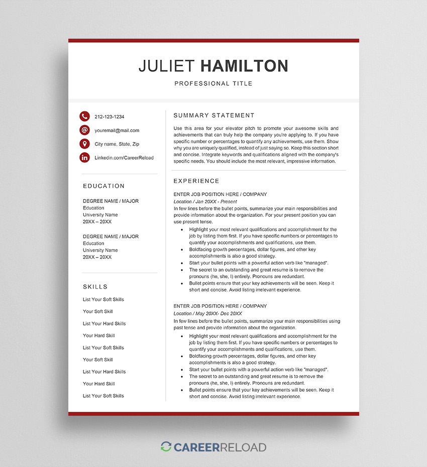 free word resume templates microsoft cv library unsubscribe template juliet good for Resume Resume Library Unsubscribe